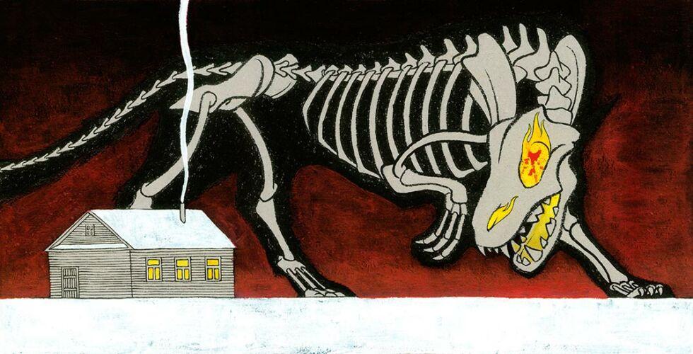 el lobo ilustraciones